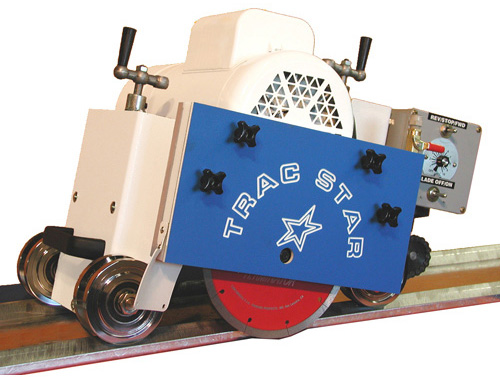 TracStar Self Propelled Rail Saw